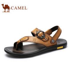 【断码清仓】Camel/骆驼男鞋真皮休闲鞋子韩版潮流男士凉鞋凉拖鞋