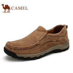 Camel/骆驼男鞋 真皮休闲鞋子镂空鞋透气鞋男士休闲皮鞋 夏季