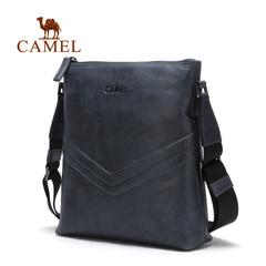 【新品】camel骆驼2016新款男士单肩包青年男包竖款牛皮包斜挎包