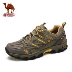 Camel骆驼男鞋 春季新款户外男士休闲运动鞋耐磨透气网面鞋男