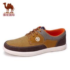 骆驼男鞋春季新款男士户外休闲鞋低帮系带透气运动休闲网鞋