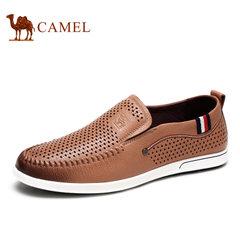 Camel骆驼男鞋 夏季舒适透气休闲鞋镂空乐福鞋男