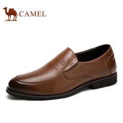 【特价清仓】Camel/骆驼男鞋商务正装套脚牛皮商务鞋男士皮鞋