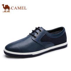 【断码清仓】Camel/骆驼男鞋日常休闲牛皮网布透气休闲男鞋