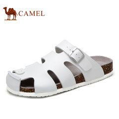 Camel/骆驼男鞋夏季凉鞋男透气日常休闲包头软木凉鞋时尚沙滩鞋男