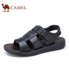 Camel/骆驼男鞋夏季真皮魔术贴日常休闲鞋凉鞋男士鞋子