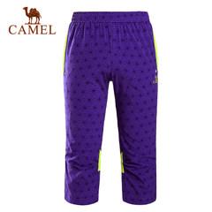 CAMEL骆驼户外女款速干七分裤 时尚拼接透气女速干裤