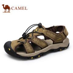 【情侣款】Camel/骆驼男鞋真皮品质凉鞋沙滩鞋夏季户外休闲凉鞋