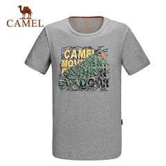 CAMEL骆驼户外运动男款休闲圆领T恤 夏季男士舒适运动短袖