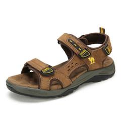 Camel/骆驼夏季凉鞋男士休闲凉皮鞋男鞋沙滩鞋中年真皮休闲凉鞋