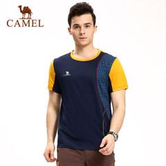CAMEL骆驼户外男款速干T恤 透气速干圆领短袖运动速干T恤