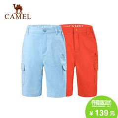 CAMEL骆驼户外童装 休闲透气五分裤青少年男女童短裤