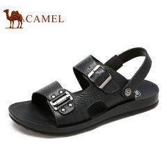Camel骆驼男鞋 日常休闲夏季真皮男凉鞋舒适牛皮凉鞋