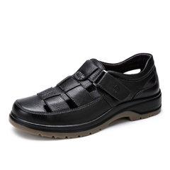 Camel/骆驼男鞋夏季真皮镂空皮鞋男透气休闲凉鞋牛皮中老年爸爸鞋