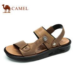 【断码清仓】Camel/骆驼男鞋夏季舒适休闲时尚百搭真皮凉鞋男