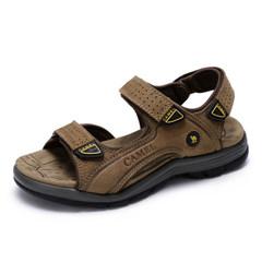 Camel/骆驼男鞋夏季牛皮透气鞋子户外休闲沙滩鞋男士凉鞋