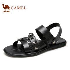 【断码清仓】Camel 骆驼男鞋时尚休闲牛皮耐磨防滑 凉鞋男沙滩鞋