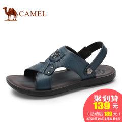 CAMEL骆驼男鞋夏季新品真皮休闲男士凉鞋露趾透气户外沙滩
