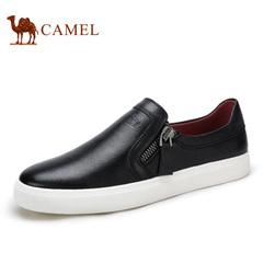 Camel/骆驼男鞋 春季 休闲鞋子男士皮鞋套脚乐福鞋小黑鞋