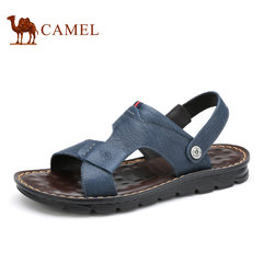 Camel/骆驼男鞋夏季真皮品质两用凉鞋清凉舒适日常休闲凉拖鞋男