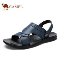 【断码清仓】Camel/骆驼男鞋时尚休闲牛皮凉拖两用沙滩鞋男凉鞋