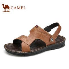 Camel/骆驼男鞋夏季牛皮透气日常休闲鞋子男凉鞋两穿凉鞋
