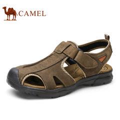 Camel/骆驼男鞋夏季磨砂牛皮舒适包头户外休闲鞋凉鞋男
