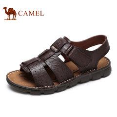 【断码清仓】Camel/骆驼男鞋夏季真皮户外休闲鞋子男士透气凉鞋男