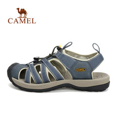 CAMEL骆驼户外男女款沙滩凉鞋 情侣抽拉绳沙滩鞋耐磨室外凉鞋