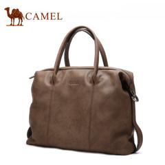 【新品】Camel骆驼2016新款手提包男包横款牛皮 单肩斜挎休闲包男