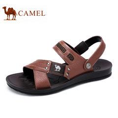 Camel骆驼男鞋 夏季日常休闲时尚搭扣耐磨柳钉两穿凉拖鞋