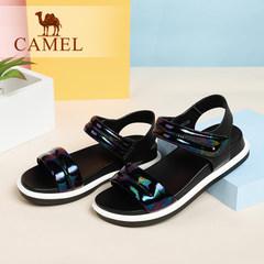 骆驼女凉鞋 新款松糕夏季女鞋 欧美风中跟学生女装凉鞋 潮鞋
