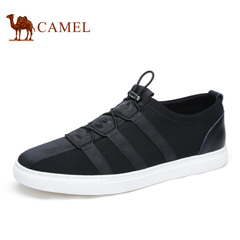 Camel/骆驼男鞋2016夏季新品时尚休闲轻盈柔软休闲板鞋布鞋乐福鞋