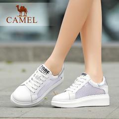 Camel/骆驼女鞋时尚休闲拼透气网布夏季女鞋小白鞋女鞋子