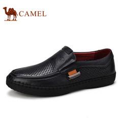 CAMEL骆驼男鞋新品男真皮商务鞋男士镂空休闲套脚鞋子