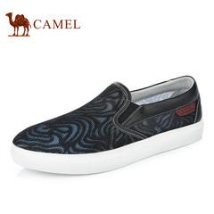 Camel/骆驼男鞋春季透气网面套脚休闲滑板鞋乐福鞋男布鞋