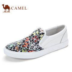 Camel/骆驼男鞋春季潮流时尚滑板鞋印花鞋面板鞋乐福鞋男