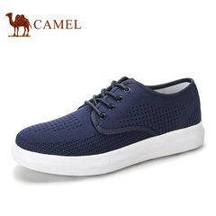 Camel/骆驼男鞋夏季舒适透气飞织布鞋运动休闲男鞋布鞋