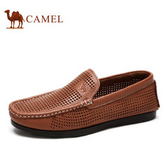 【特价清仓】Camel/骆驼男鞋日常休闲牛皮套脚豆豆男鞋