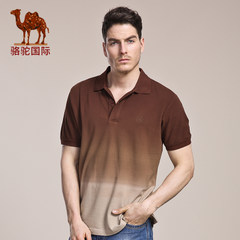 骆驼 夏季新款翻领男T恤 日常青春活力棉质短袖T恤