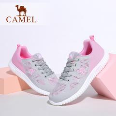 Camel/骆驼女鞋 休闲轻便 夏季透气镂空系带低跟运动鞋