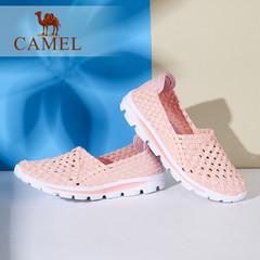Camel/骆驼女鞋 2016夏季新款 七彩拼色轻便平底鞋 透气单鞋女