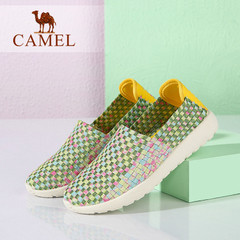 Camel/骆驼女鞋 2016夏季新款 轻便透气单鞋休闲平底鞋拼色单鞋