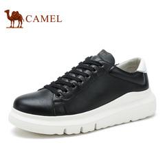 Camel/骆驼内增高男鞋男士休闲小白鞋潮流时尚系带滑板鞋