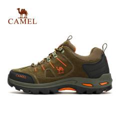 【熱銷6萬】駱駝戶外登山鞋 男女防滑減震戶外鞋低幫牛皮徒步鞋