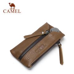 Camel/骆驼2016新款男女通用牛皮钥匙包 时尚复古锁匙包