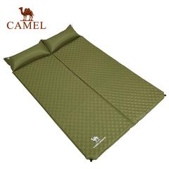 【2016新品】CAMEL骆驼户外露营防潮垫 拼接带枕双人自动充气垫