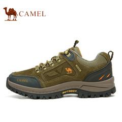 【2016新品】駱駝戶外登山鞋牛皮低幫戶外徒步鞋防滑耐磨減震跑鞋
