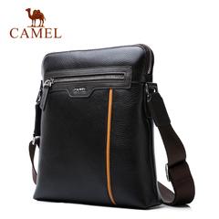 Camel/骆驼男包2016新款男士单肩包 商务休闲优质牛皮单肩斜挎包