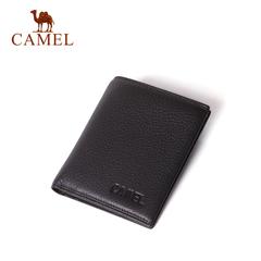Camel/骆驼钱包 2016新款男士钱夹 时尚简约2折牛皮荔枝纹钱包